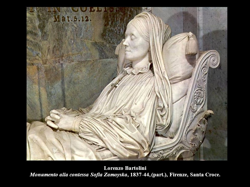 Lorenzo Bartolini Monumento alla contessa Sofia Zamoyska, 1837-44, (part.), Firenze, Santa Croce.