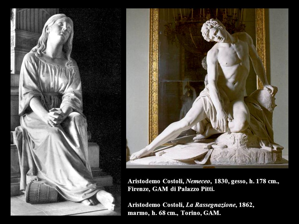 Aristodemo Costoli, Nemeceo, 1830, gesso, h. 178 cm