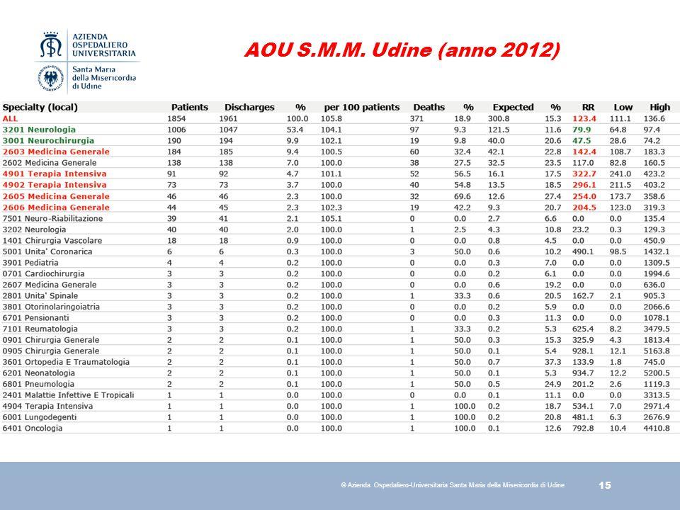 AOU S.M.M. Udine (anno 2012)