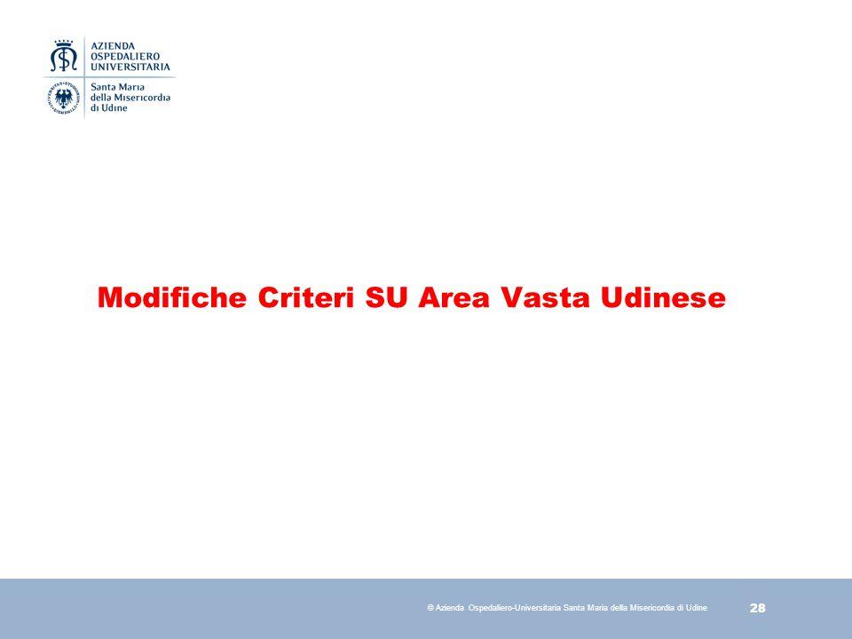 Modifiche Criteri SU Area Vasta Udinese