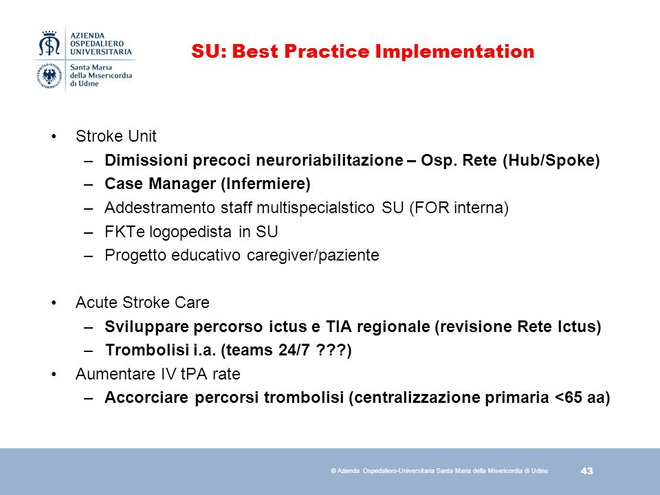 SU: Best Practice Implementation