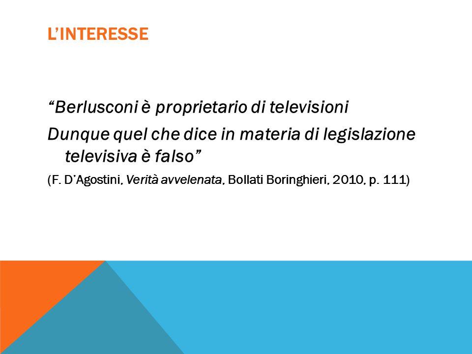 Berlusconi è proprietario di televisioni