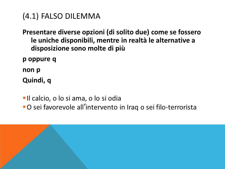 (4.1) FALSO DILEMMA