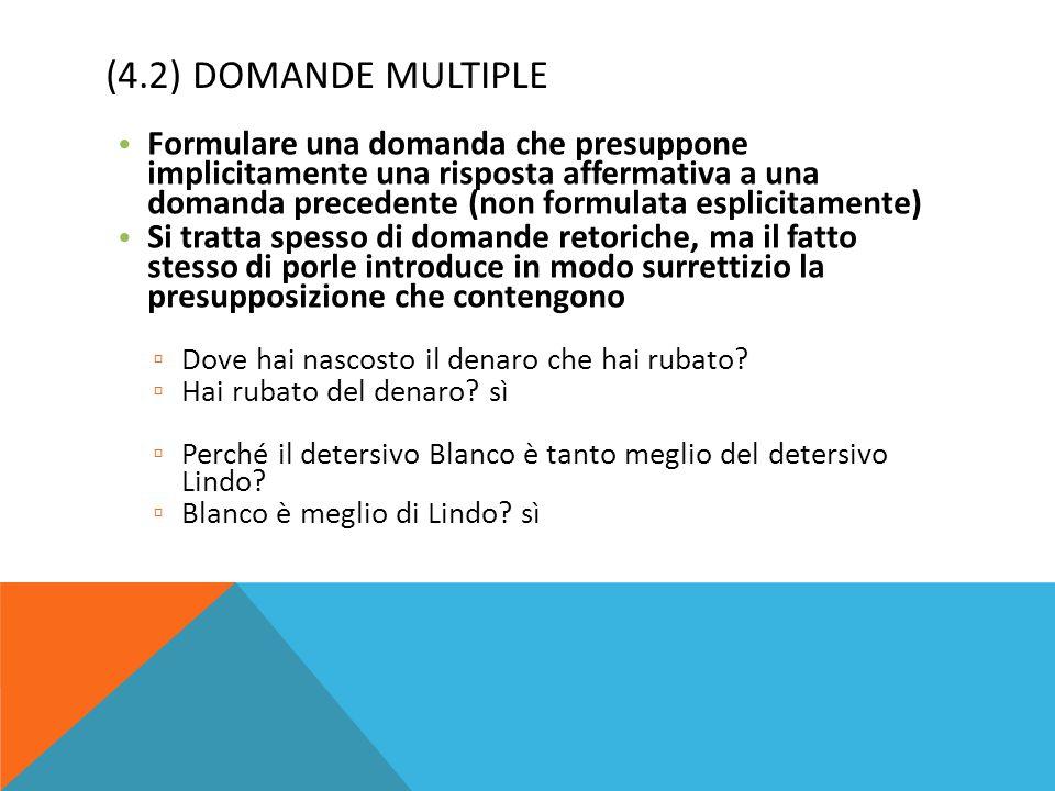 (4.2) DOMANDE MULTIPLE