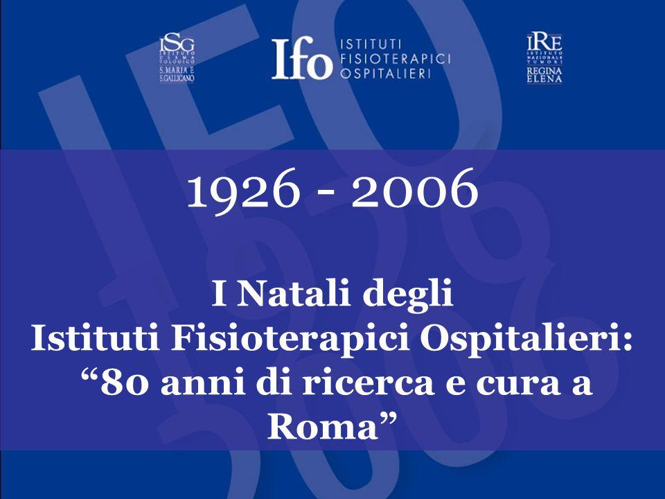 Istituti Fisioterapici Ospitalieri: 80 anni di ricerca e cura a Roma