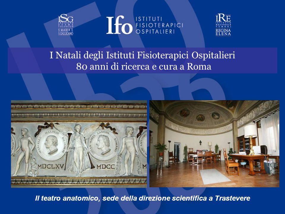 Il teatro anatomico, sede della direzione scientifica a Trastevere