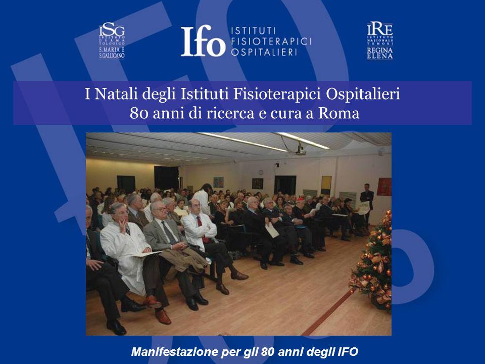 Manifestazione per gli 80 anni degli IFO