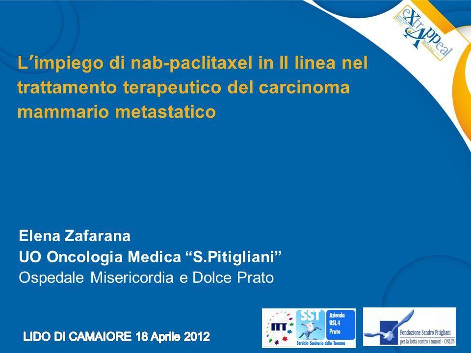 L'impiego di nab-paclitaxel in II linea nel trattamento terapeutico del carcinoma mammario metastatico