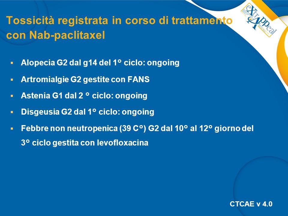 Tossicità registrata in corso di trattamento con Nab-paclitaxel