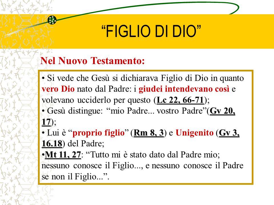 FIGLIO DI DIO Nel Nuovo Testamento: