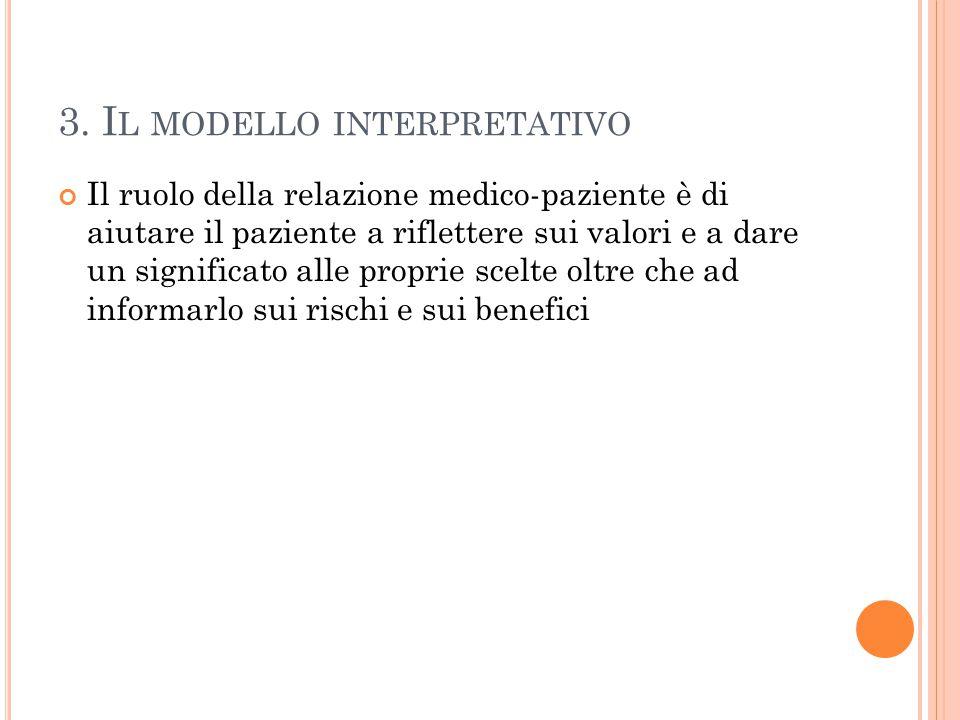 3. Il modello interpretativo