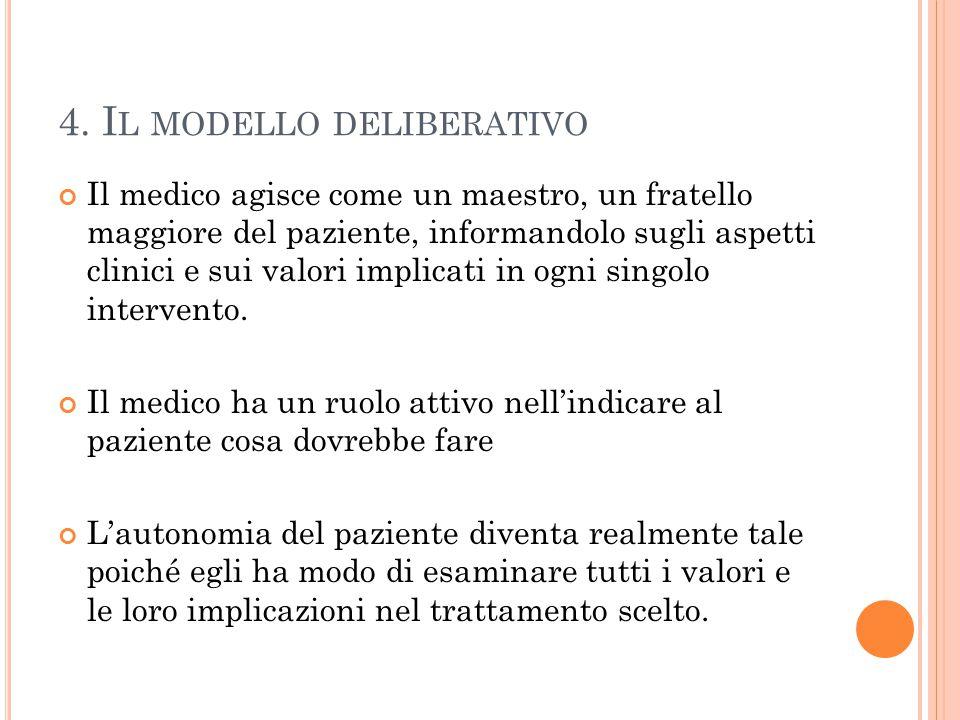 4. Il modello deliberativo