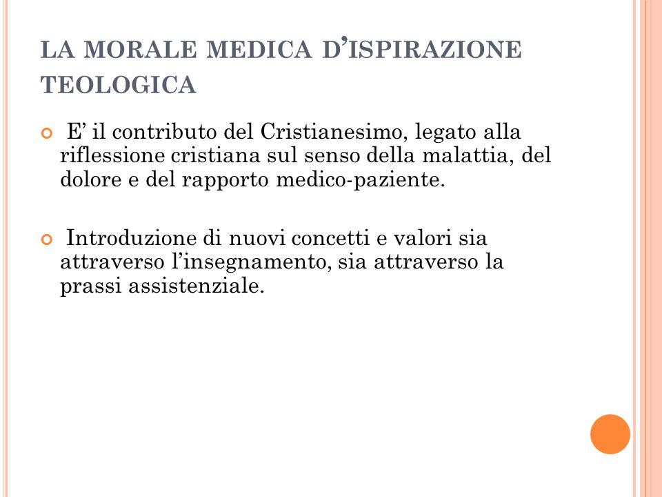 la morale medica d'ispirazione teologica