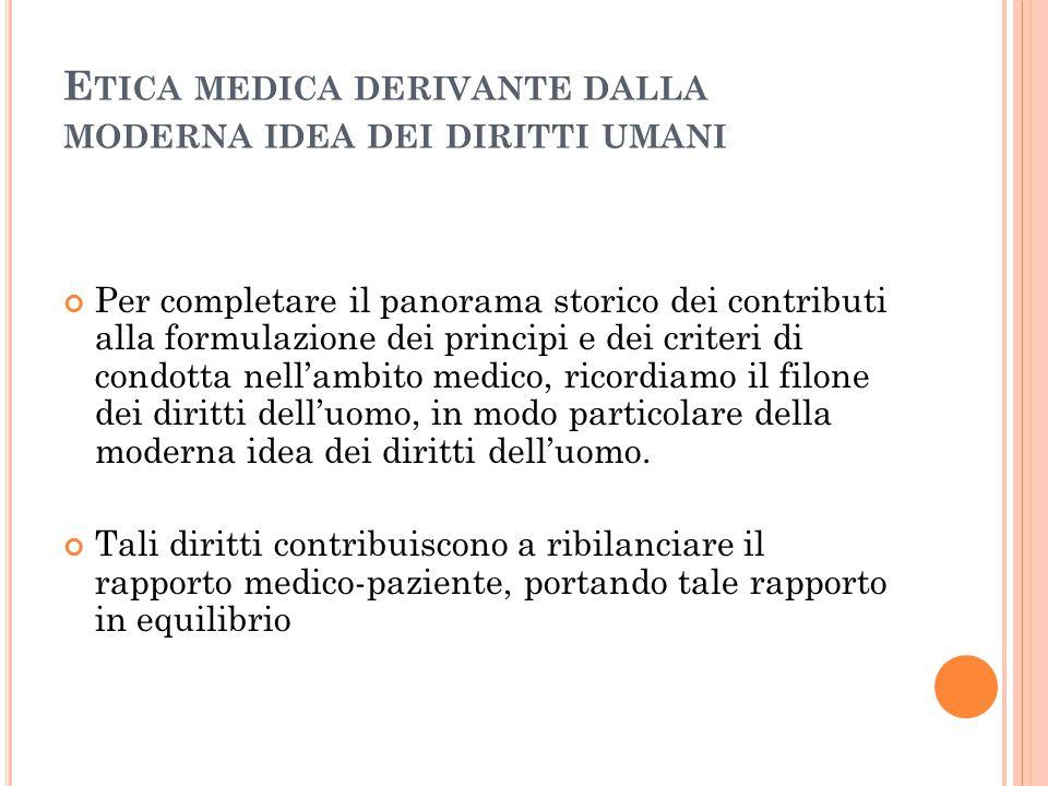 Etica medica derivante dalla moderna idea dei diritti umani