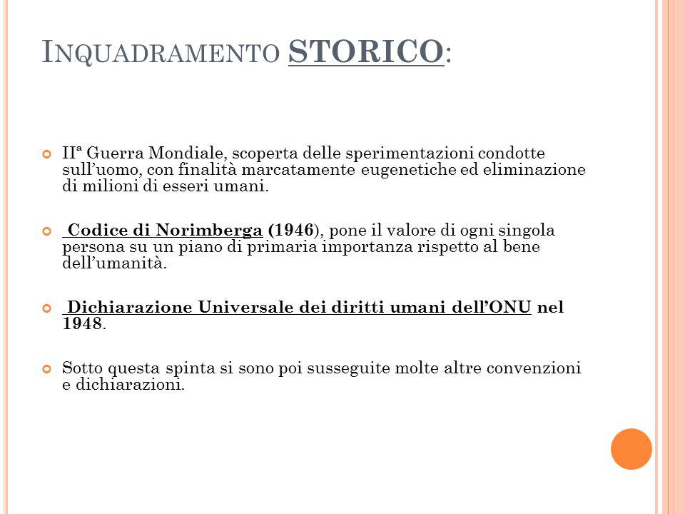 Inquadramento STORICO: