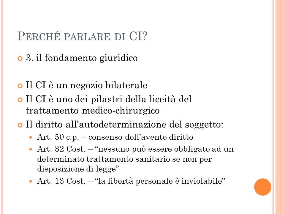 Perché parlare di CI 3. il fondamento giuridico