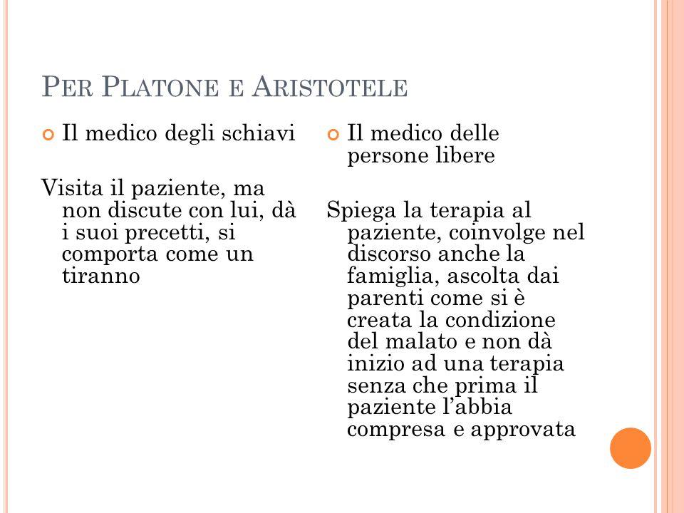 Per Platone e Aristotele