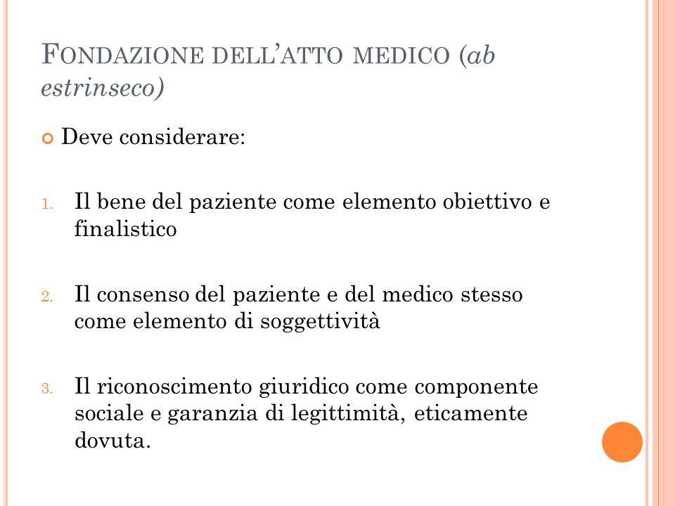 Fondazione dell'atto medico (ab estrinseco)