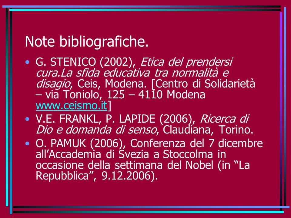 Note bibliografiche.