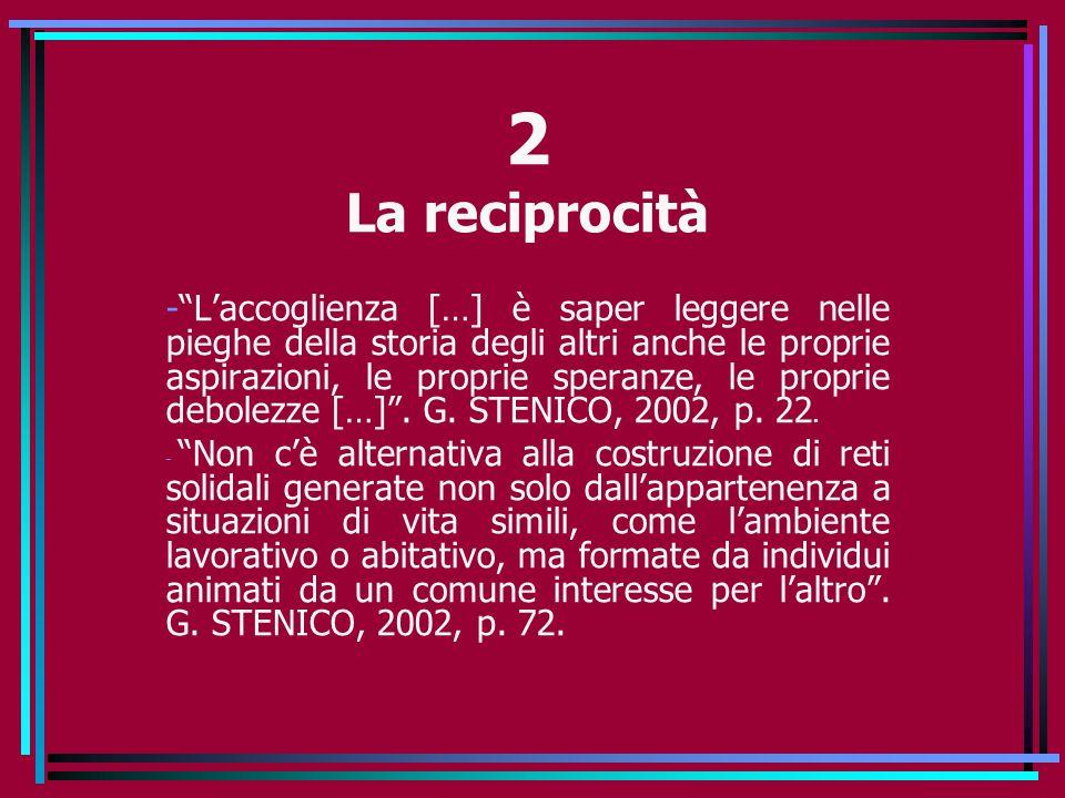 2 La reciprocità.