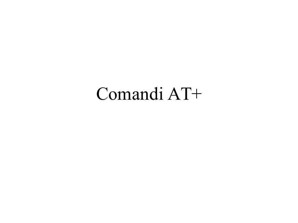 Comandi AT+