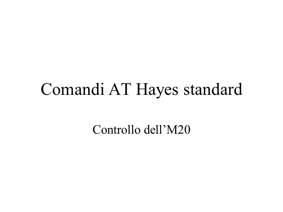 Comandi AT Hayes standard