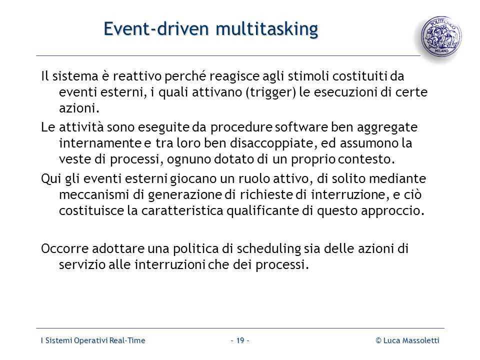 Event-driven multitasking