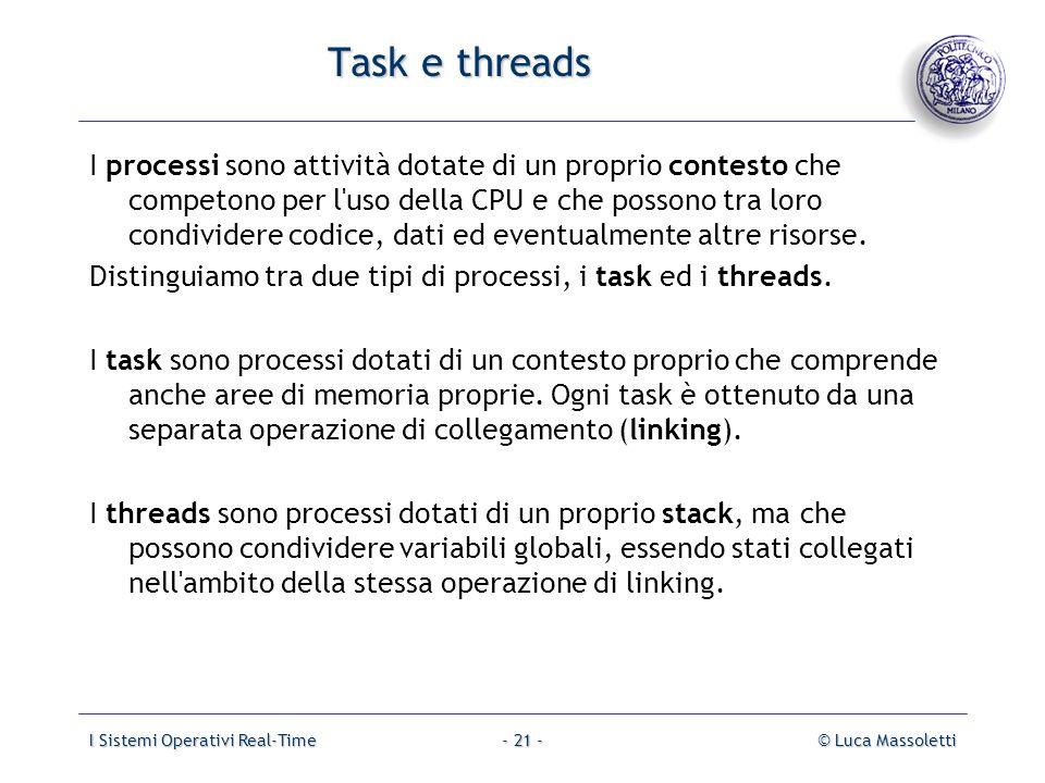 Task e threads