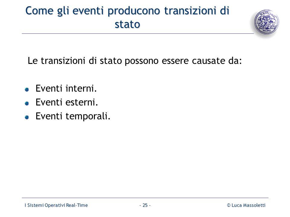 Come gli eventi producono transizioni di stato