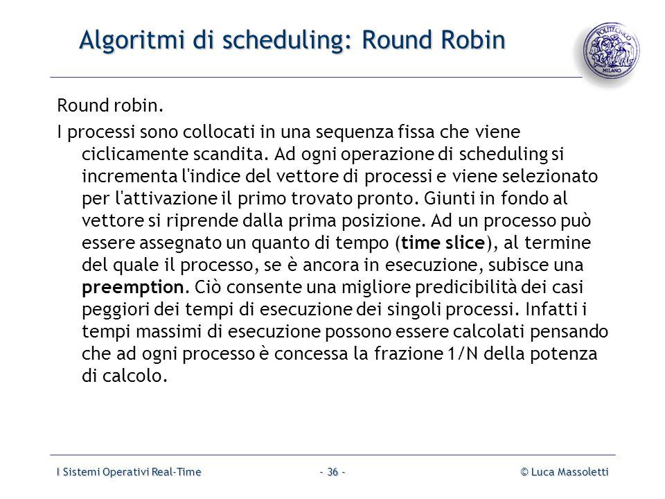 Algoritmi di scheduling: Round Robin
