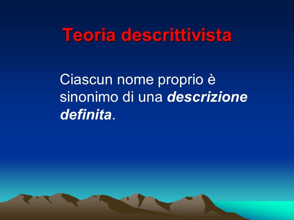Teoria descrittivista