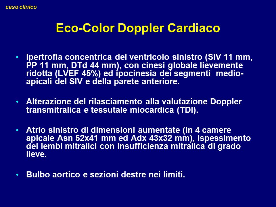 Eco-Color Doppler Cardiaco