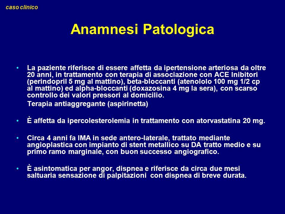 caso clinico Anamnesi Patologica.