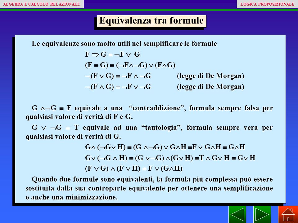 Equivalenza tra formule