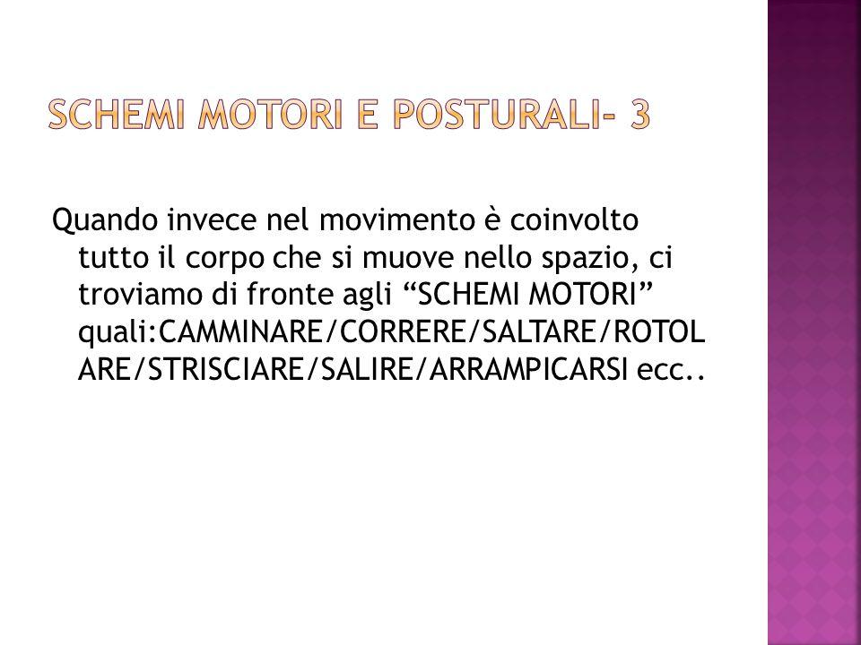 SCHEMI MOTORI E POSTURALI- 3