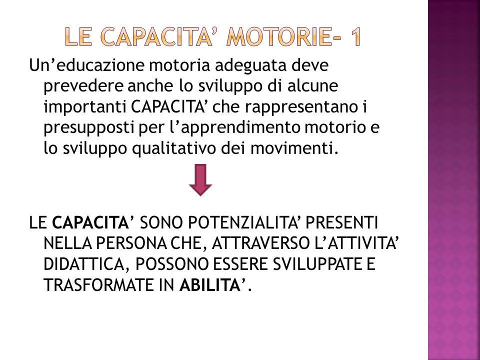 LE CAPACITA' MOTORIE- 1