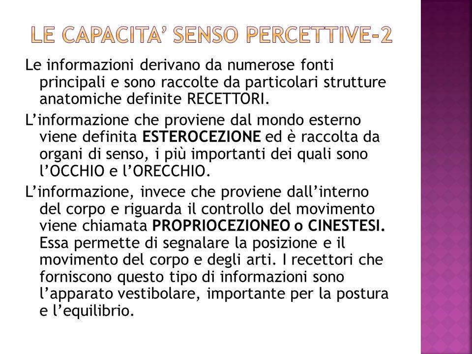 LE CAPACITA' SENSO PERCETTIVE-2