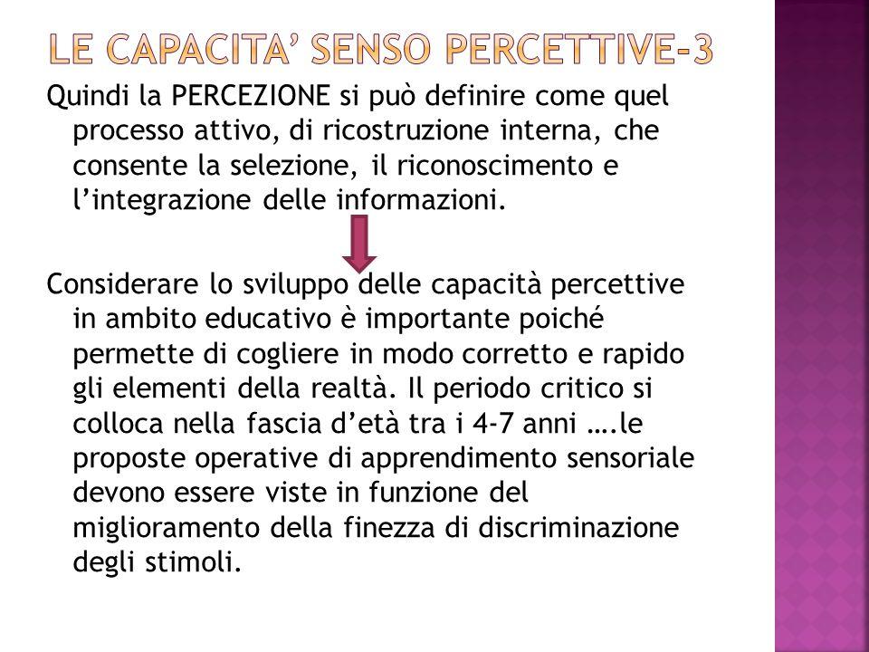 LE CAPACITA' SENSO PERCETTIVE-3