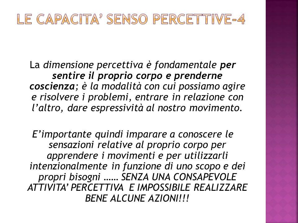 LE CAPACITA' SENSO PERCETTIVE-4