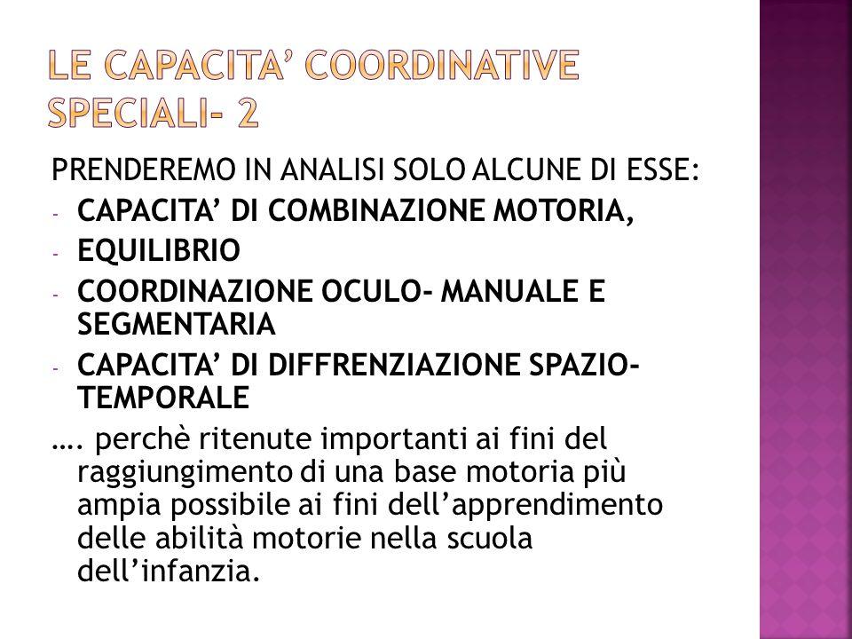 LE CAPACITA' COORDINATIVE SPECIALI- 2