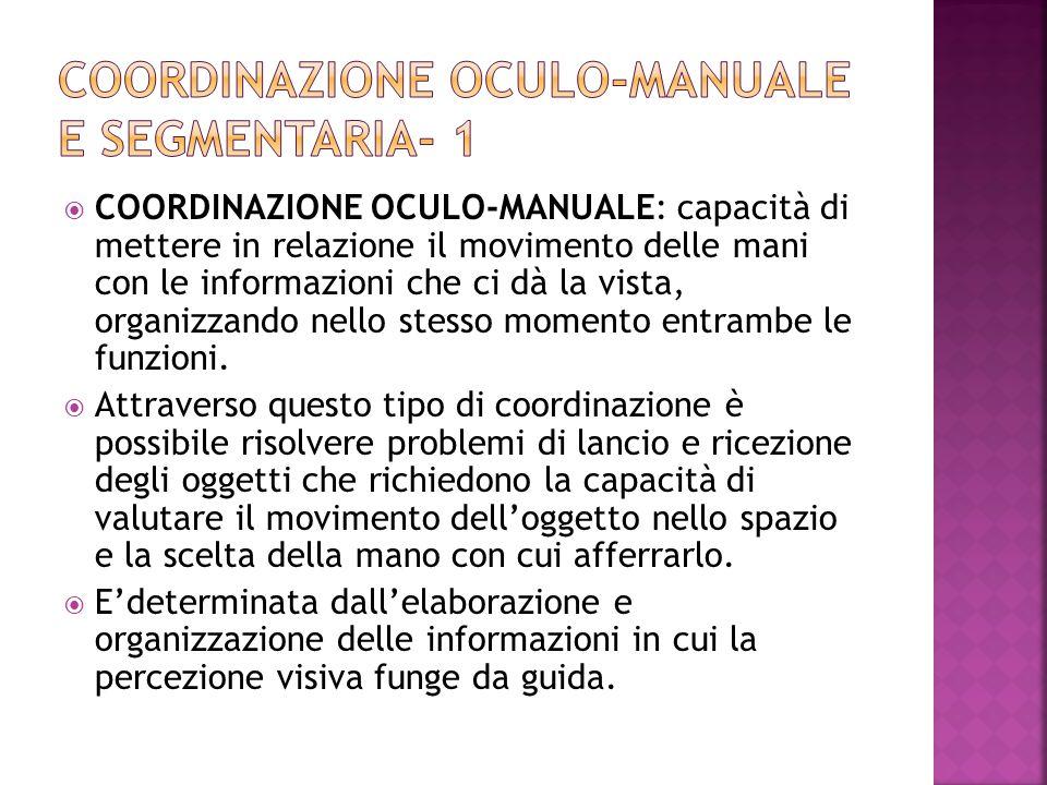 Coordinazione oculo-manuale e segmentaria- 1
