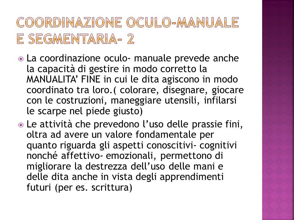 Coordinazione oculo-manuale e segmentaria- 2
