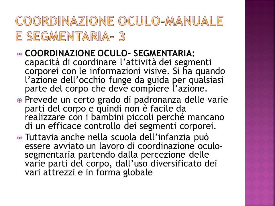 Coordinazione oculo-manuale e segmentaria- 3