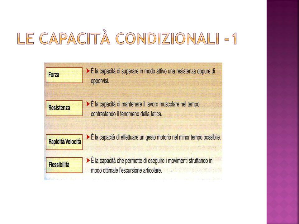 Le capacità condizionali -1
