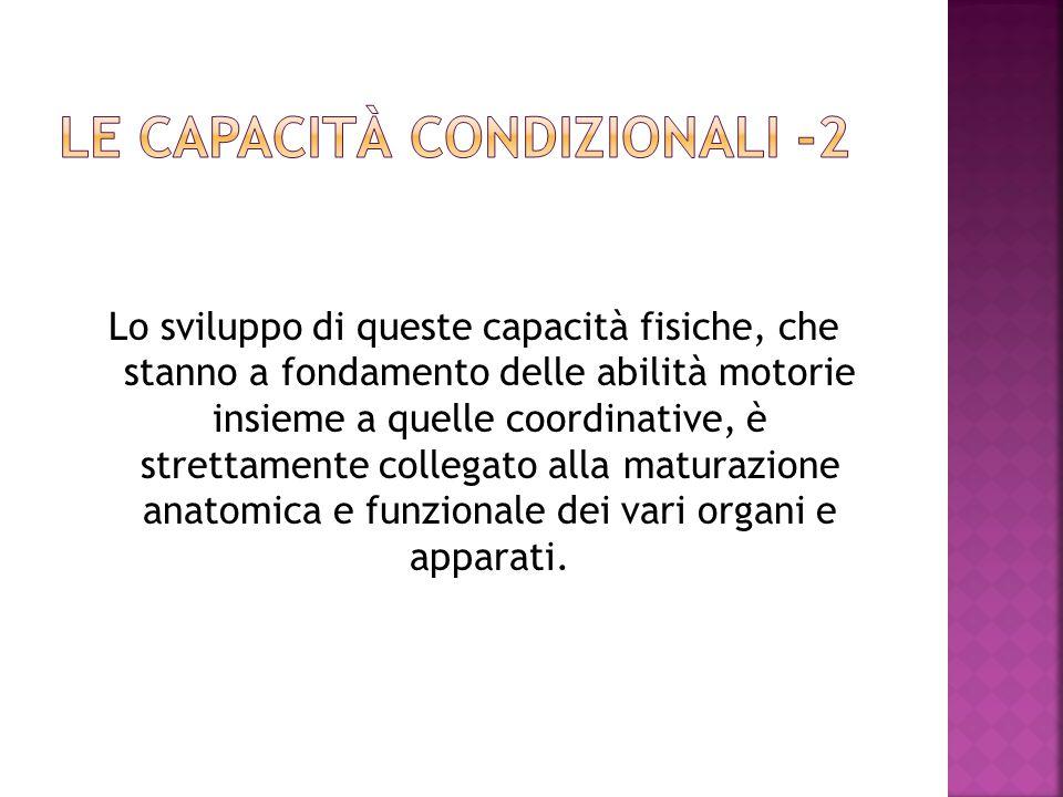 Le capacità condizionali -2