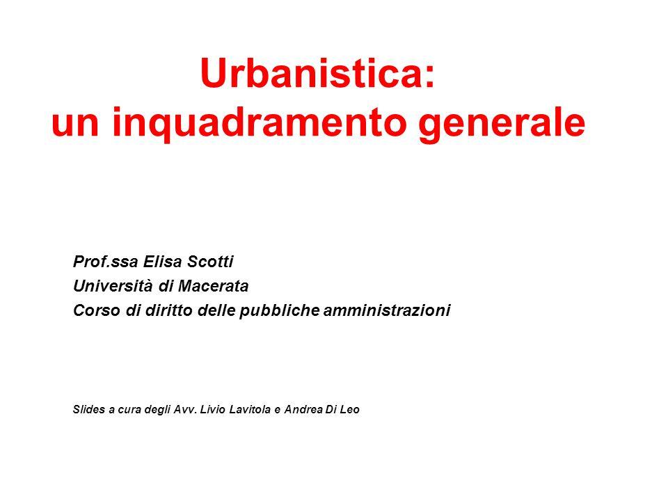 Urbanistica: un inquadramento generale