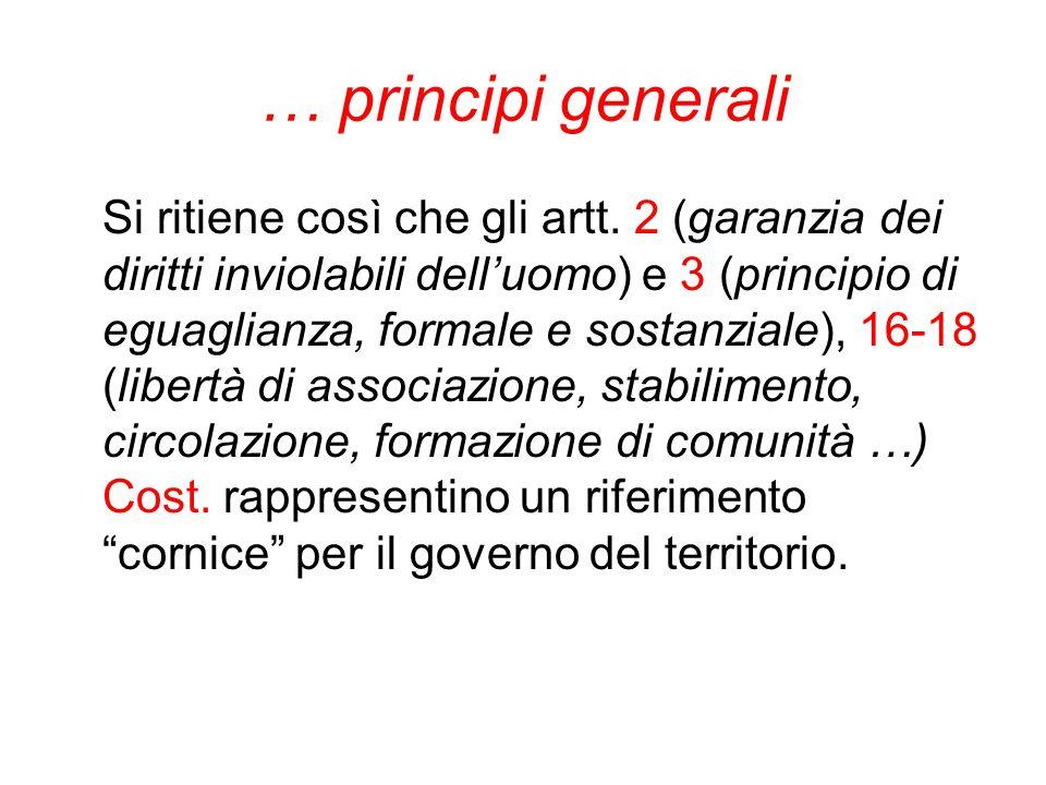 … principi generali
