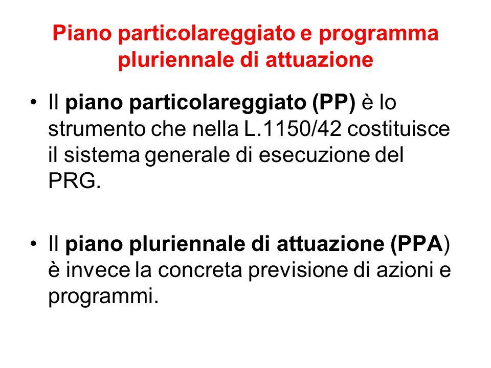Piano particolareggiato e programma pluriennale di attuazione