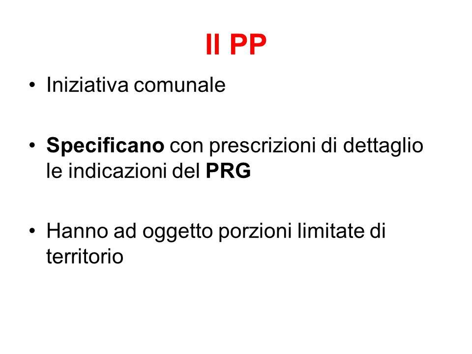 Il PP Iniziativa comunale