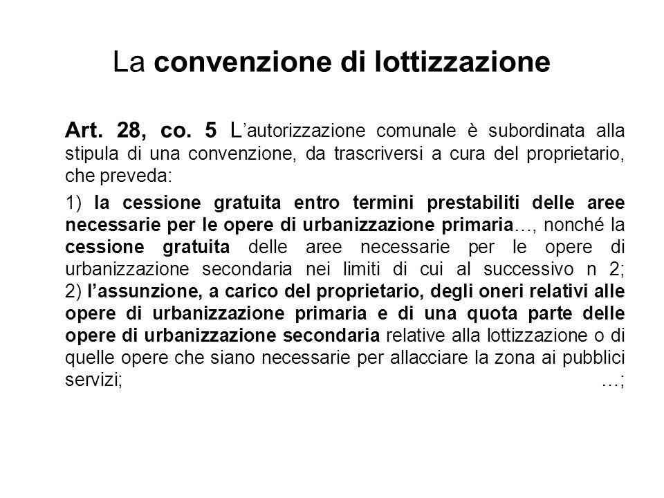 La convenzione di lottizzazione